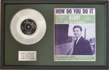 GERRY&THE PACEMAKERS-Platinum Disc&SongSheet-HOW DO